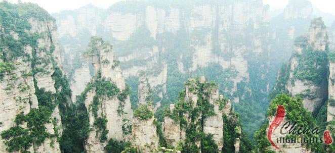 Zhangjiajie National Forest Park including Treasure Box of Heavenly Books, Golden Tortoise Watching the Sea etc.