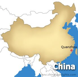 Quanzhou Location Map