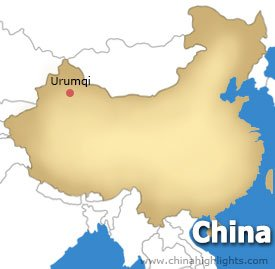 Urumqi Location Map