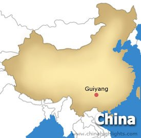 Map of Guiyang City Location in China