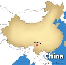 Lijiang Location Map