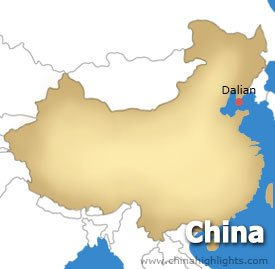 Dalian Location Map