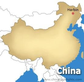 map-harbin-city
