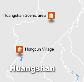 huangshan hongcun tour map