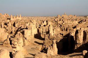 The Jiaohe Ruins are evidence of an ancient Silk Road settlement