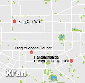 xa-2a Xi'an Map