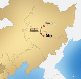 Harbin Jilin Tour Map