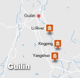 Guilin Xingping Yangshuo Tour Map