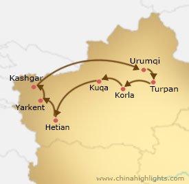 xj-1 tour map