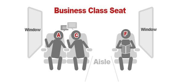 Business Class Seat Map