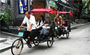 Visting the hutongs by rickshaw