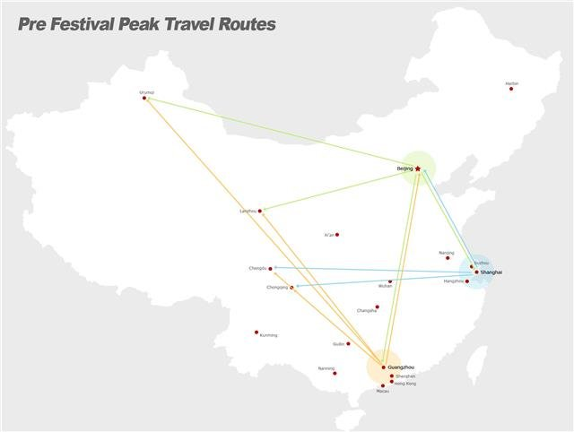 Chinese New Year transport map