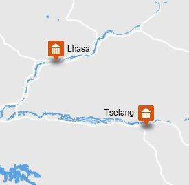 Lhasa Tsetang Tour Map
