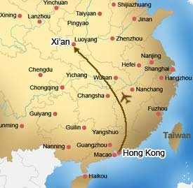 Hong Kong Xian Tour Map