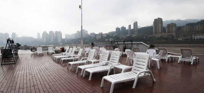 Sun Deck on Yangtze River Cruise