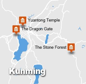 Kunming tour map