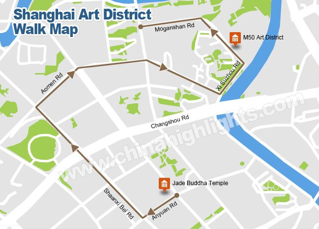 Shanghai Art District Walk Map