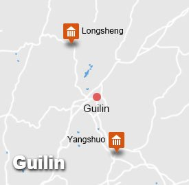 Guilin Longsheng Yangshuo Tour Map