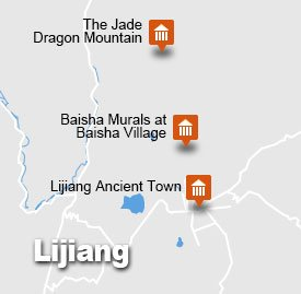 Lijiang tour map