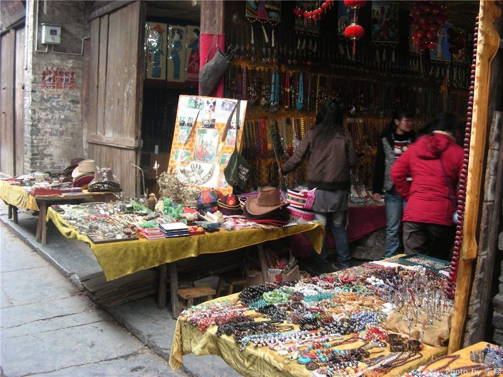 Traditional market of Daxu Ancient Town