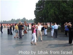 People dancing in Temple of Heaven Park