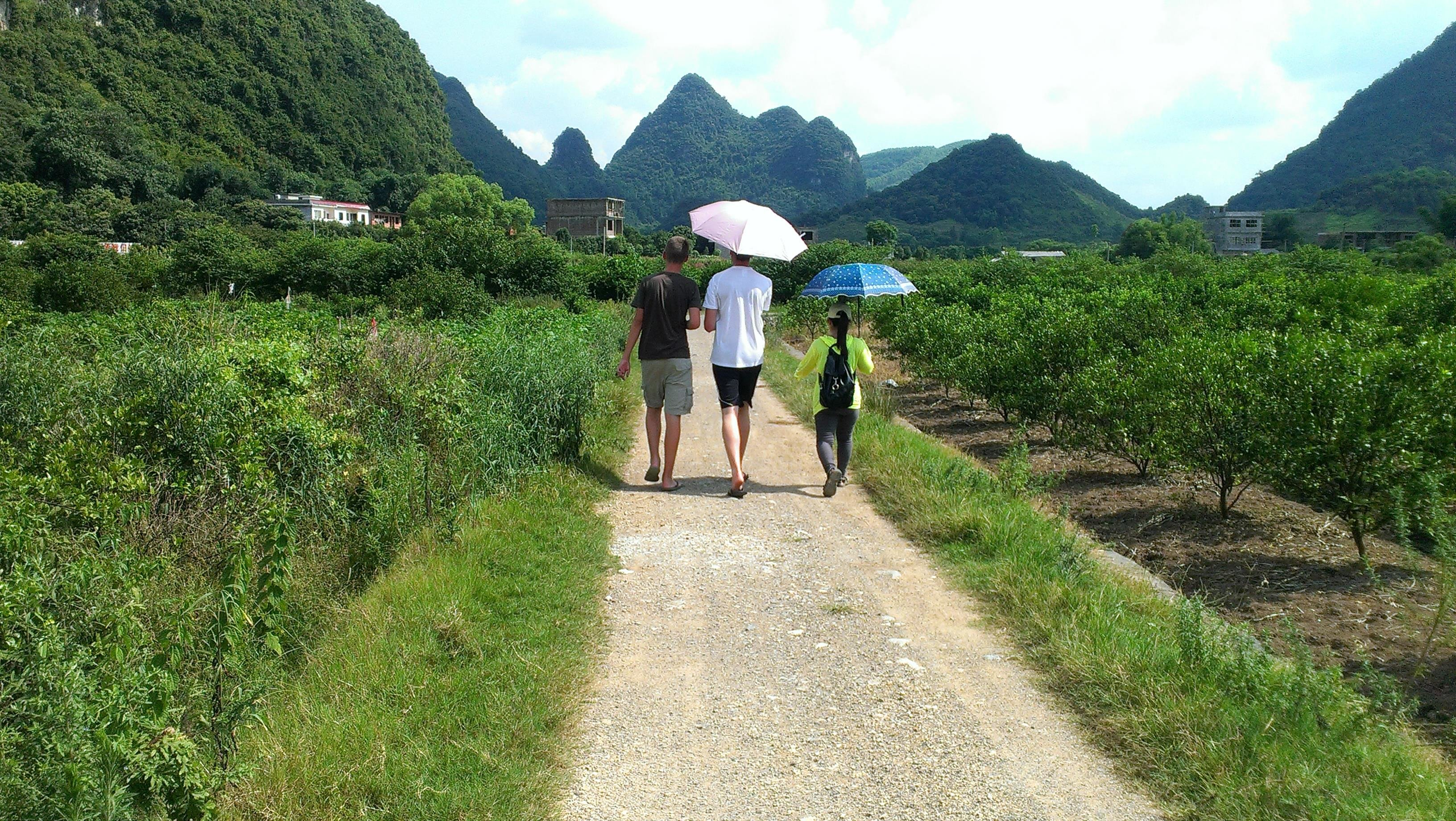 Hiking around Yangshuo's countryside