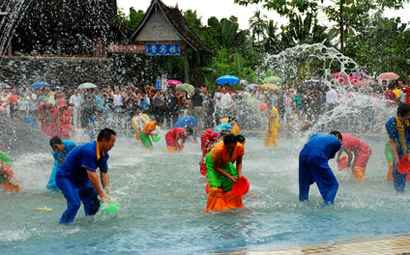 Water Splashing Festival of the Dai Ethnic Minority in Yunnan Province
