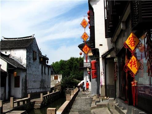 A Road of Zhouzhuang Water Town