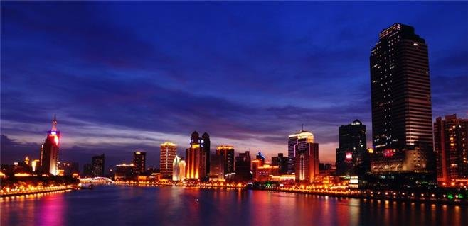 night view of the pearl river