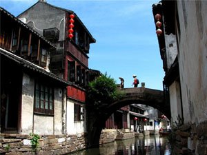 A Bridge of Zhouzhuang Water Town