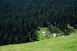 Nanshan Pasture with Kazakh yurts