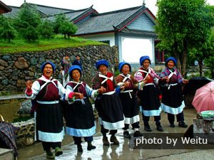 Naxi minority people in Lijiang, Yunnan