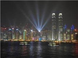 View of Victoria Harbor, Hong Kong