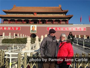 Customers at the Tian'anmen Square