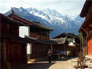 Jade Dragon Snow Mountain can be seen in Baisha Village