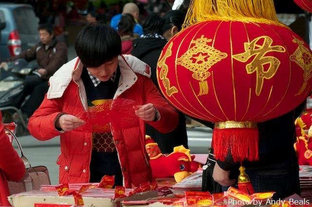 Chinese Spring Festival decoration market