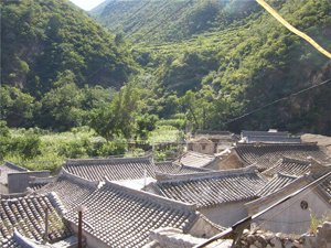 cuandixia village view from above