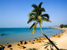 The beach in Hainan Province