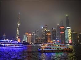 huangpu river night scene