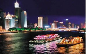 Night Cruising on the Pearl River in Guangzhou