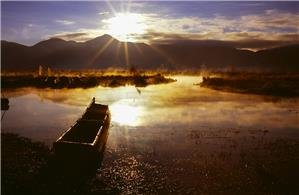 Sunrise of Lugu Lake