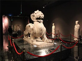 stone winged lion in luoyang museum
