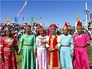 Mongol Chinese minority clothing