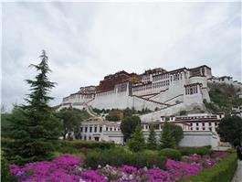 Beautiful scenery of Potala Palace in spring