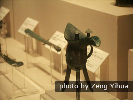 Ancient Chinese bronzeware in Shaanxi History Museum