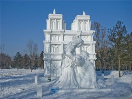 snow sculpture art exhibition