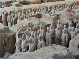 the terracotta warriors and horses