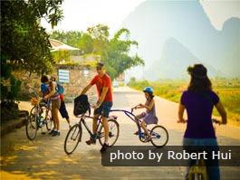 Cycle dans la campagne de Yangshuo