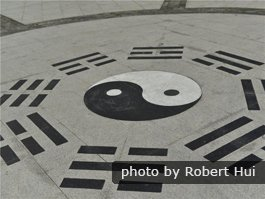 yin-yang symbol and the eight directions