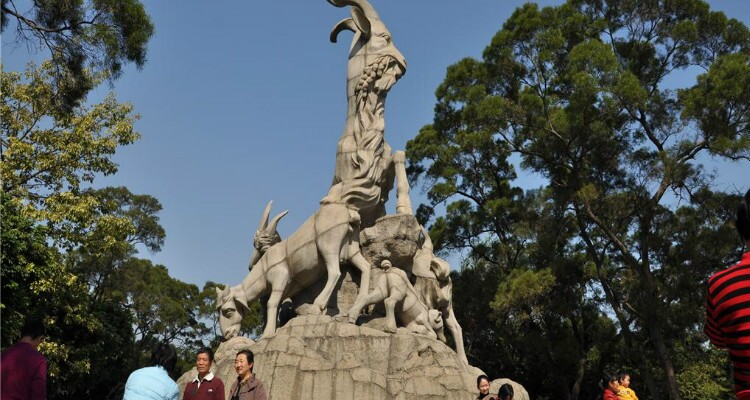 The statue of the five goats is in Yuexiu Park